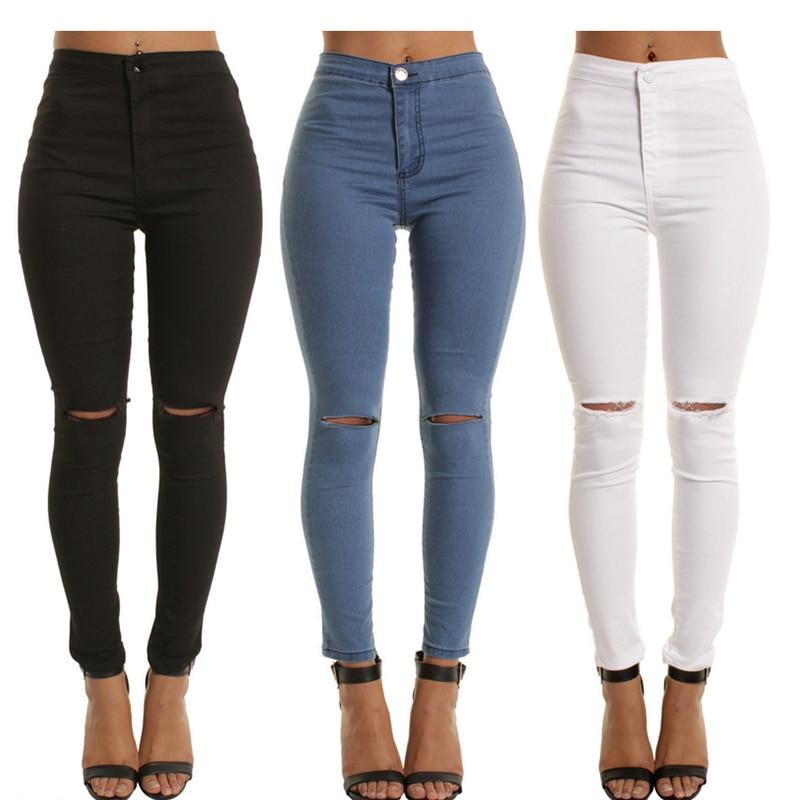 2020 New Arrival Fashion Hot Women Denim Skinny Pants High Waist Jeans Slim Pencil Ladies Casual Jea