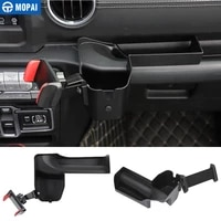 mopai gps stand for jeep gladiator jt 2018 car ipad mobile phone holder storage box for jeep wrangler jl 2018 accessories