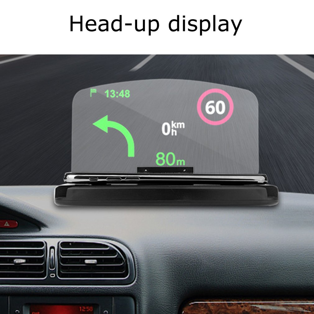 Hud Car Head-Up Display Mobile Phone stand Navigation Projector Qi Wireless Charger Bracket