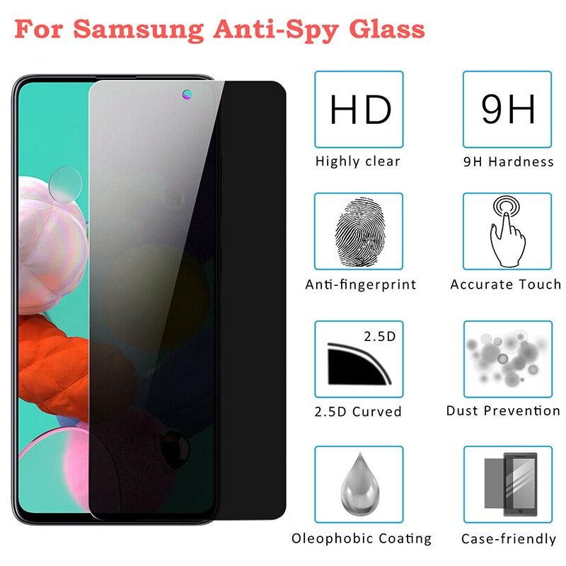 AliExpress - 2PCS Anti Spy Tempered Glass For Samsung A51 A71 A21 A31 A11 A12 A32 M21 M51 Screen Protector For Samsung A51 A71 A01 A52 Film