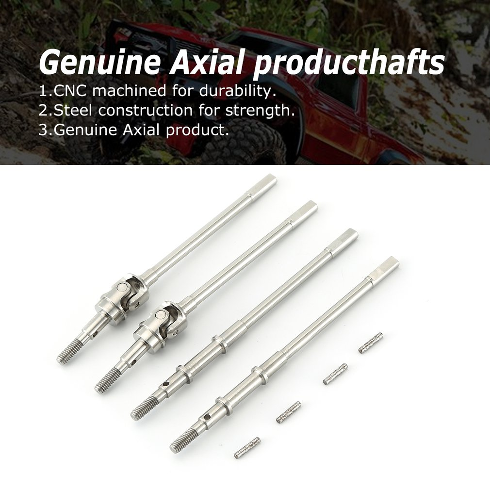 1 Pair Hard Steel Front Axle Cvd Ar44 Universal Drive Shaft For Axial Scx10 Ii 90046 90047 Rc Car Parts Toys For Children enlarge