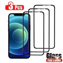 3Pcs Curved Protective Glass For iphone 6 6S 7 8 Plus SE 20 Screen Protector on iphone X XR XS 11 12