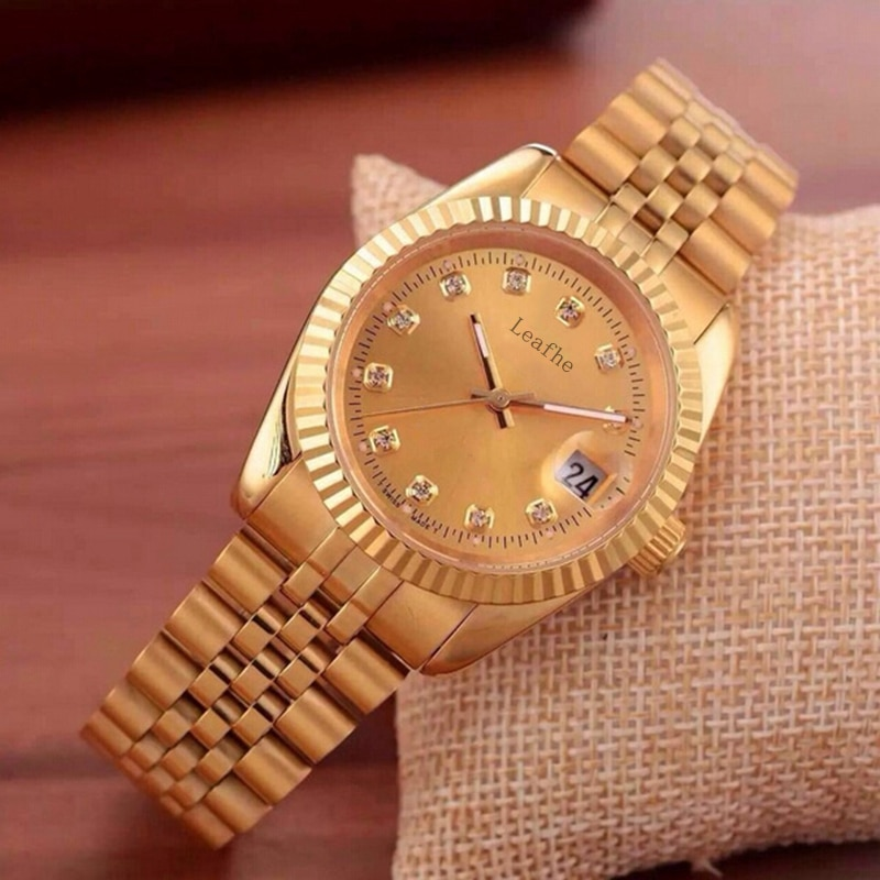 New ladies watch stainless steel diamond women watches gold silver fashion clock date function  girl choice enlarge