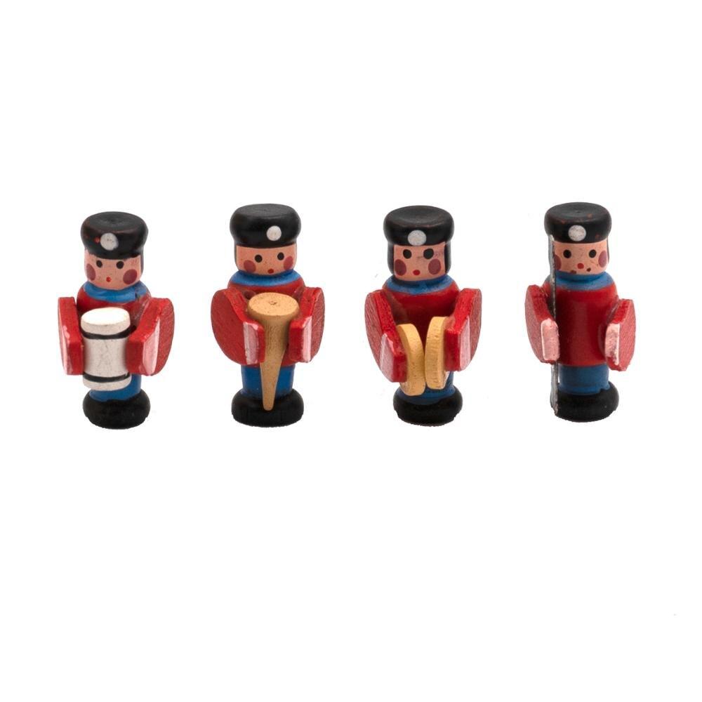 4 Uds 1/12, accesorios en miniatura para casa de muñecas, Mini tambor de madera, muñeca de simulación, muebles, figuras, juguetes para decoración de casa de muñecas