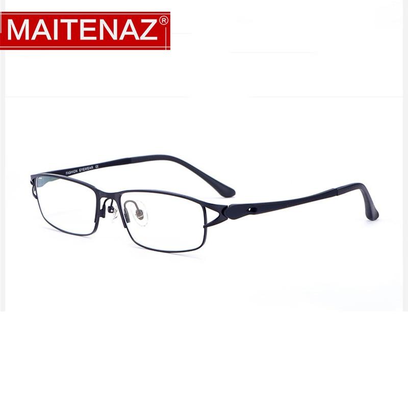 MAITENAZ Anti Fatigue Alloy Prescription Eyeglasses Myopia Hyperopia Glasses for Women Comfortable C
