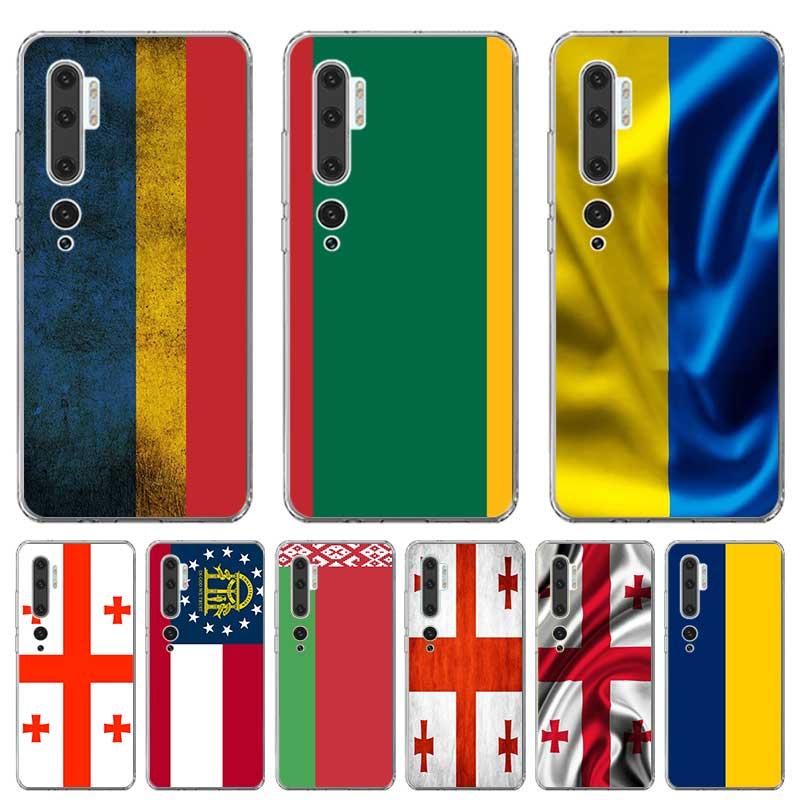 Funda de silicona bandera Georgia Lituania Bielorrusia para Xiaomi MI 9T CC9E Note 10 A1 A2 A3 8 Lite 5G Poco F1 F2 Pro M2 X2