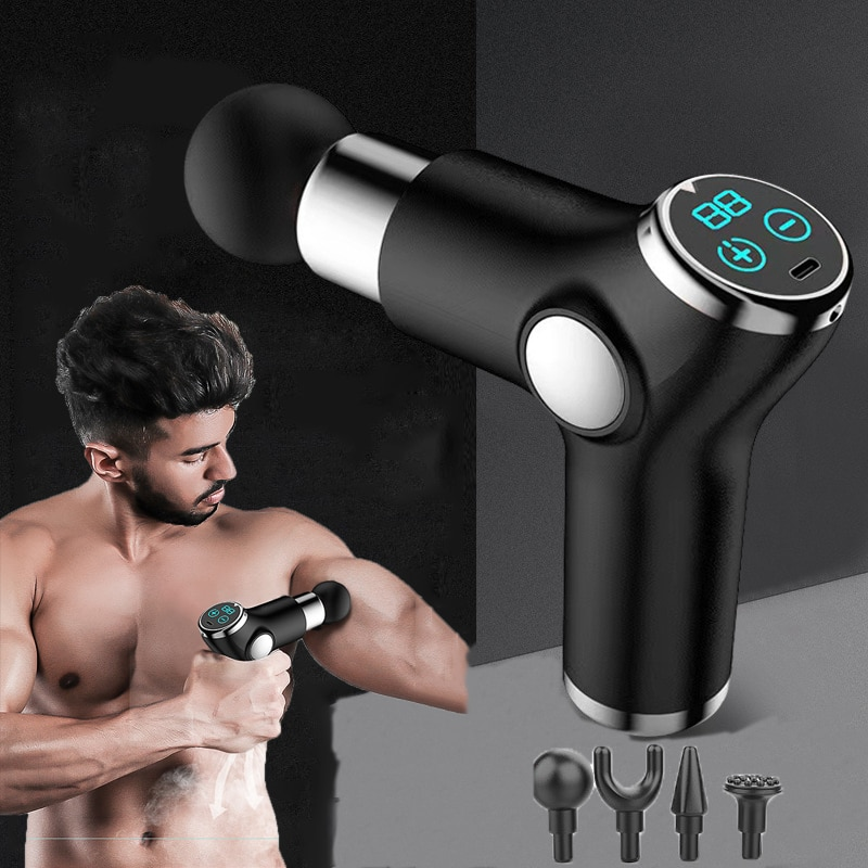 32-gear-mini-massage-gun-lcd-display-sports-therapy-massager-pain-relief-slimming-shaping-body-massager-fitness-acid-relief-rd