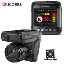 Ruccess STR-LD200-G 3 In 1 Auto Dvr Radar Detector Laser Met Gps Full Hd 1296P 1080P Dual Recorder dash Camera Voor En Achter