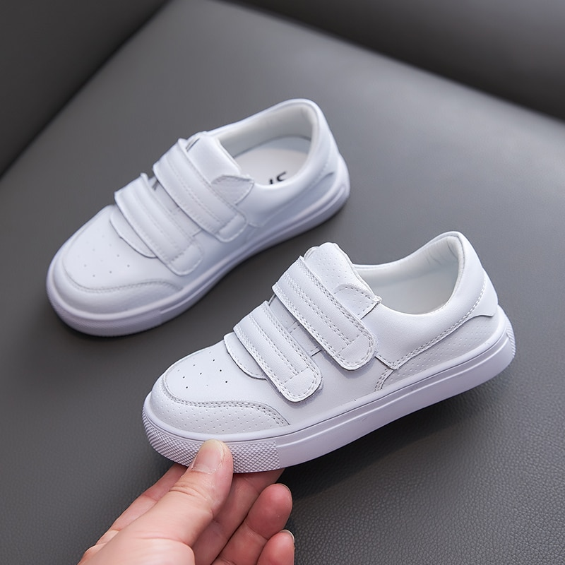 Crianças tênis de couro genuíno sapatos para crianças sapatos planos com menina menino tênis tamanho 21-36 alta qualidade tollder esportes sapatos