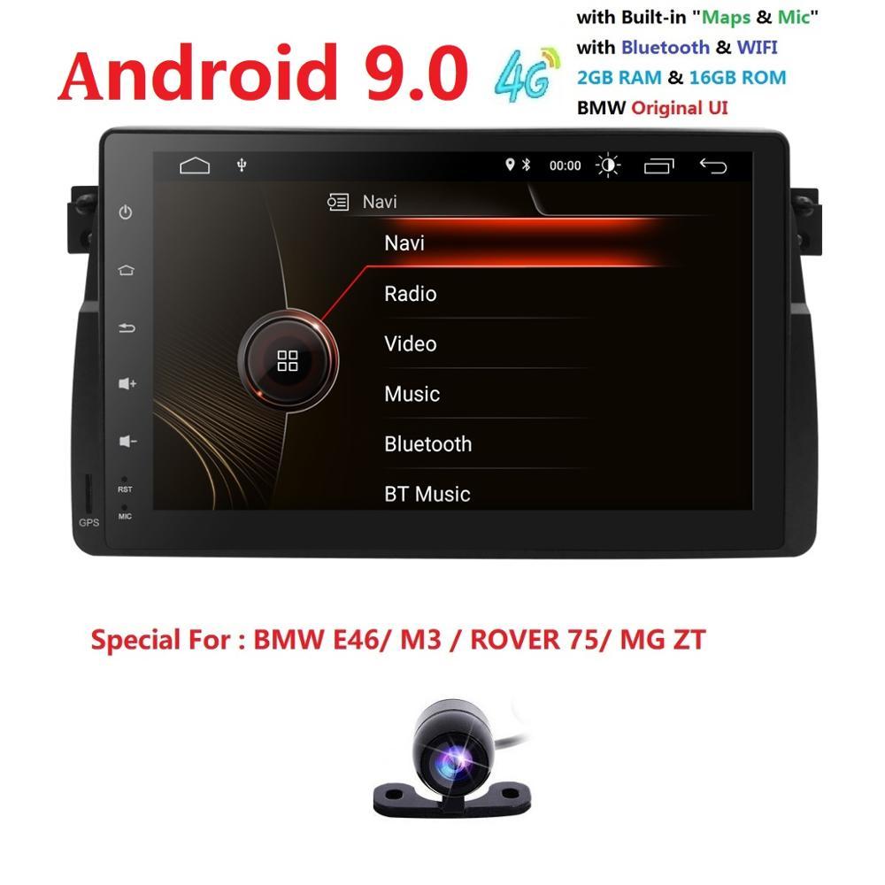 9Android9 0 Quadcore HD1024 * 600 pantalla 2DIN coche DVR GPS Radio estéreo para BMW E46 M3 wifi 4G USB GPS SWC de AUDIO DVB-T2 BLUETOOTH