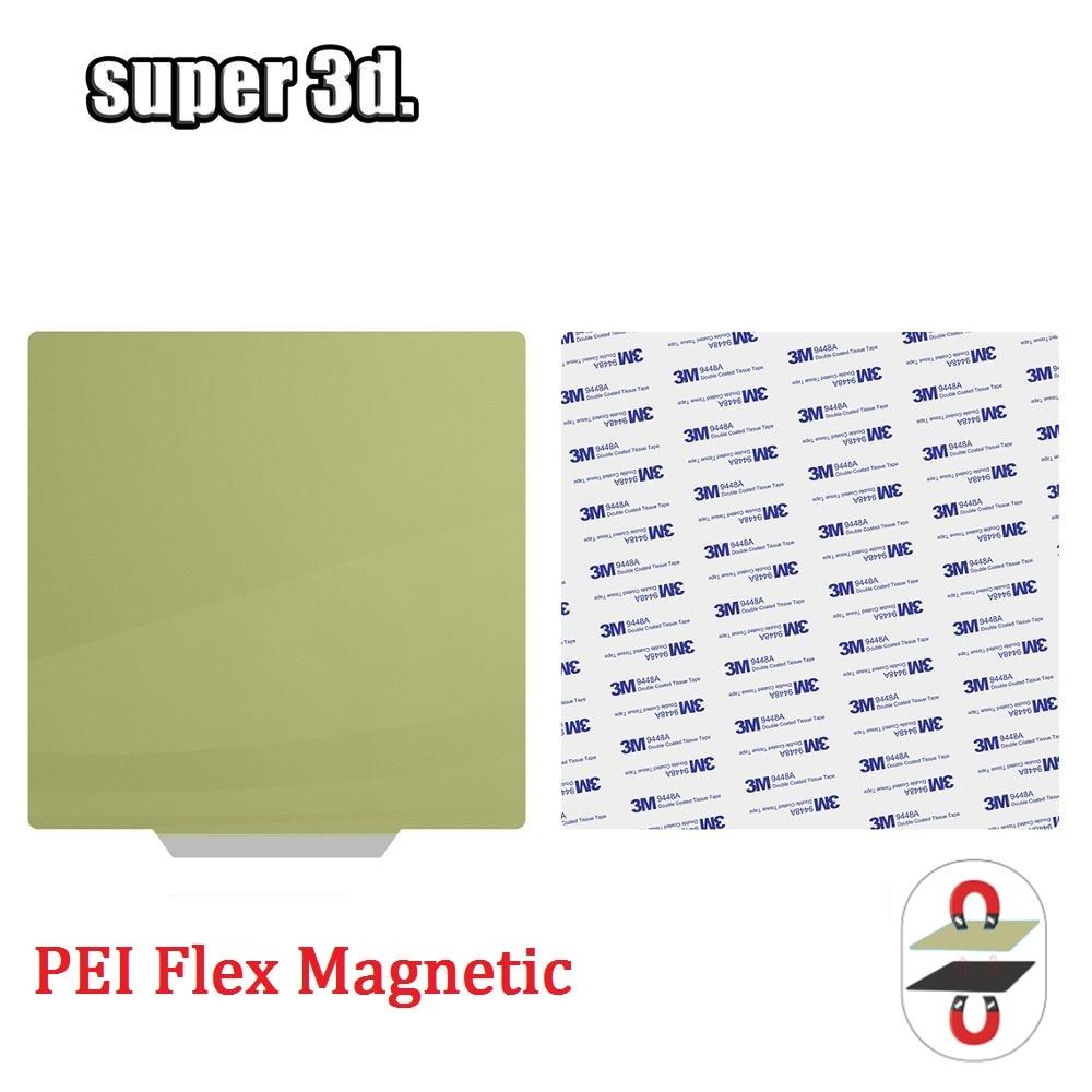 Nueva hoja de acero preaplicada PEI 220x220 235x235 310x310mm + pegatina magnética flexible para cama caliente de impresora 3D
