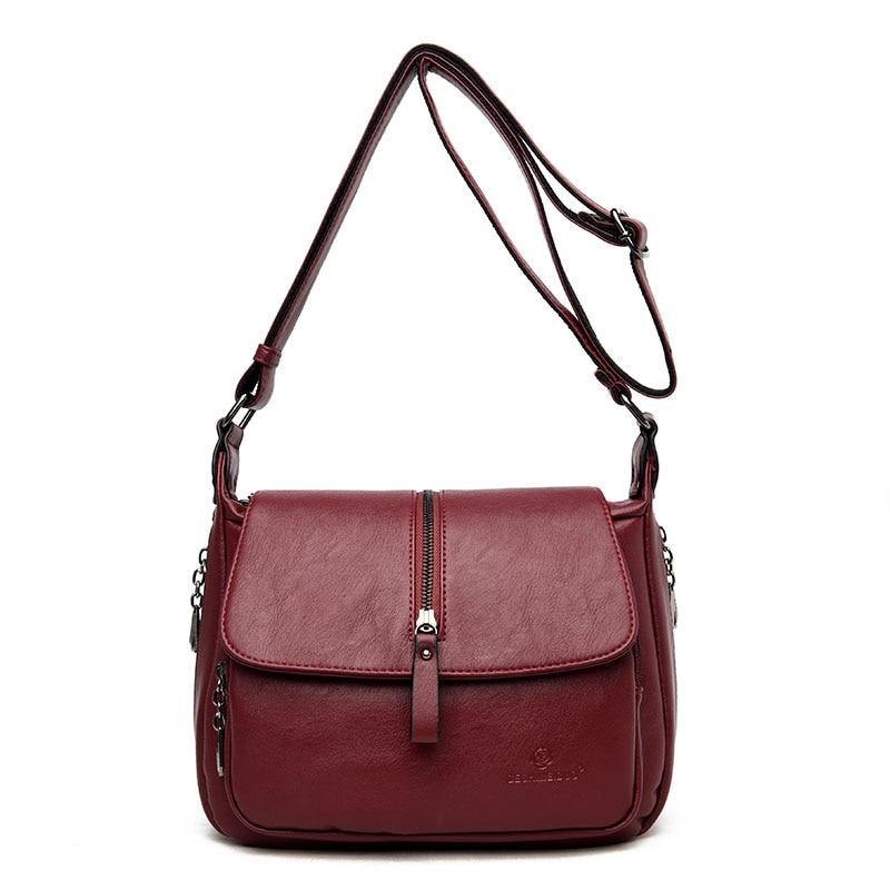New Soft Leather Flap Messenger Bag Luxury Handbags Women Bags Designer Handbags High Quailty 2018 Shoulder Bags Tote Sac a Main
