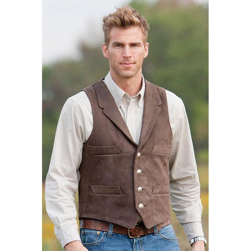 Men's Vest Cowboy Style Waistcoats for Young Weste Men Tuxedo Vest Gilet Homme Vintage Ropa Caballero Hombre Yelek Erkrk