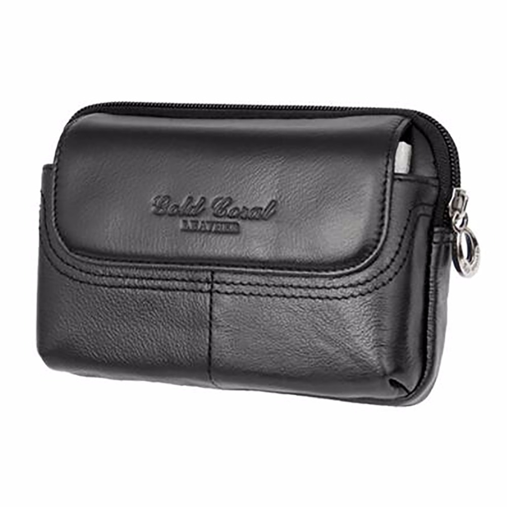 yiang new men s genuine leather cowhide vintage belt pouch purse fanny pack waist bag for cell mobile phone case cover skin Genuine Leather Cowhide Men Fanny Waist Belt Bag Casual Hip Bum Small Bag Male Brand Famous Cell/Mobile Phone Case Purse Bags