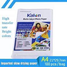 100 pièces A4 séchage lent Type Sublimation transfert papier 100g impression numérique jet dencre impression Non-coton transfert de chaleur papier
