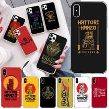 Katana Hattori Hanzo étui souple personnalisé pour iPhone 11 pro XS MAX 8 7 6 6S Plus X 5S SE 2020 XR couverture
