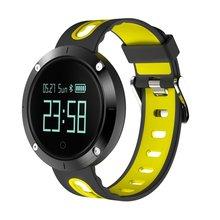 Dm58 esportes pulseira de freqüência cardíaca relógio inteligente monitor único toque tela lcd ip67 à prova dip67 água