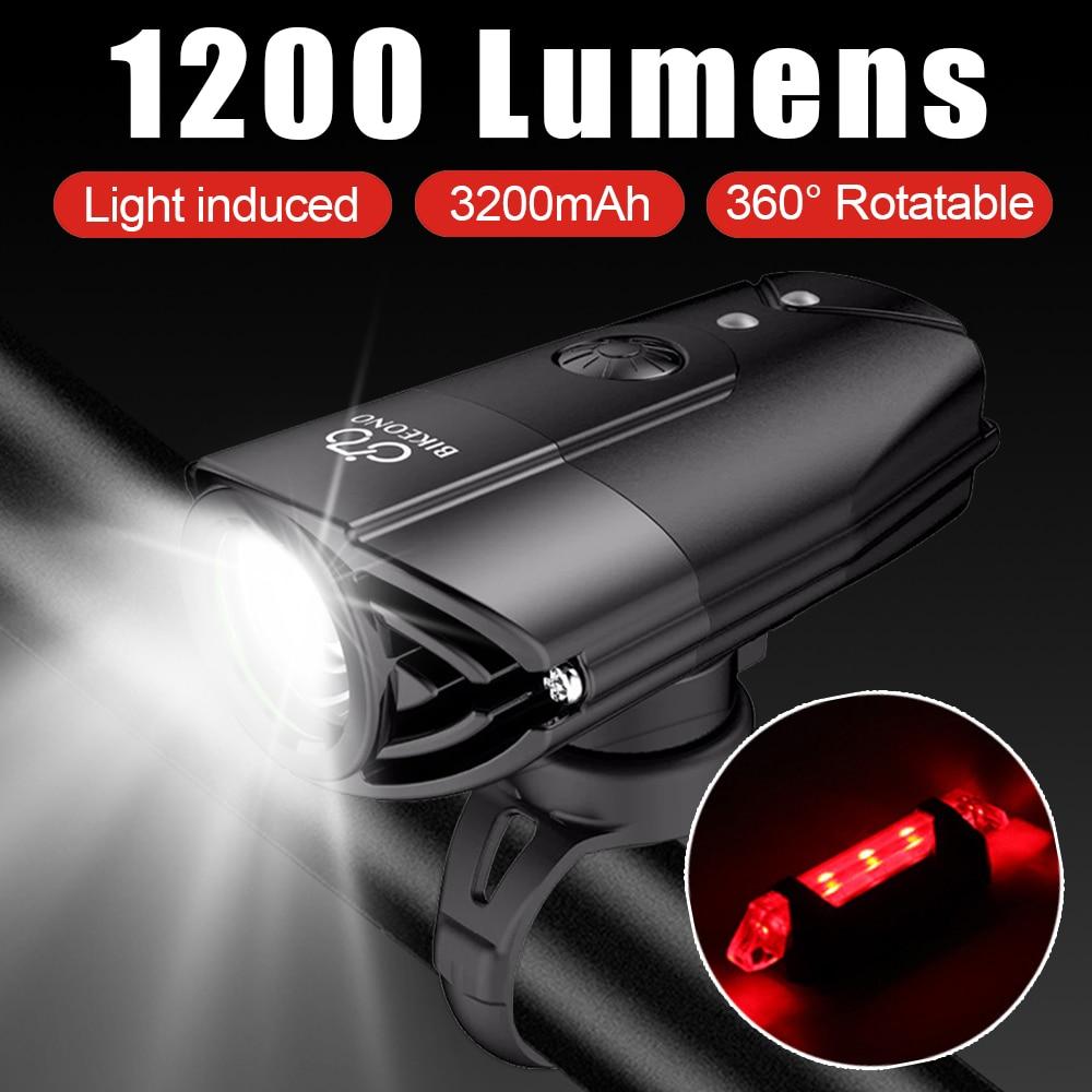 Bikeuno إضاءة دراجة هوائية دراجة اكسسوارات المصباح LED الضوء الخلفي USB مصباح يدوي قابل لإعادة الشحن الجبلية الدراجات فانوس لمصباح دراجة