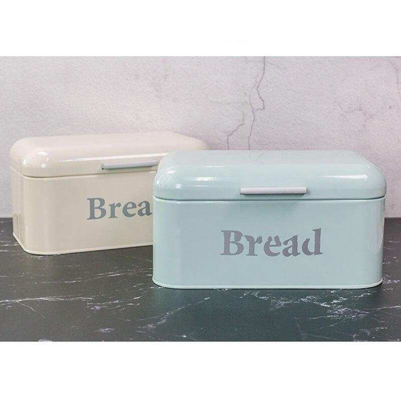 AF88-خمر صندوق الخبز خزانة الحديد اقفاص الوجبات الخفيفة سطح المكتب التشطيب الغبار واقية صندوق تخزين صندوق تخزين حارس الغذاء رف مطبخ D