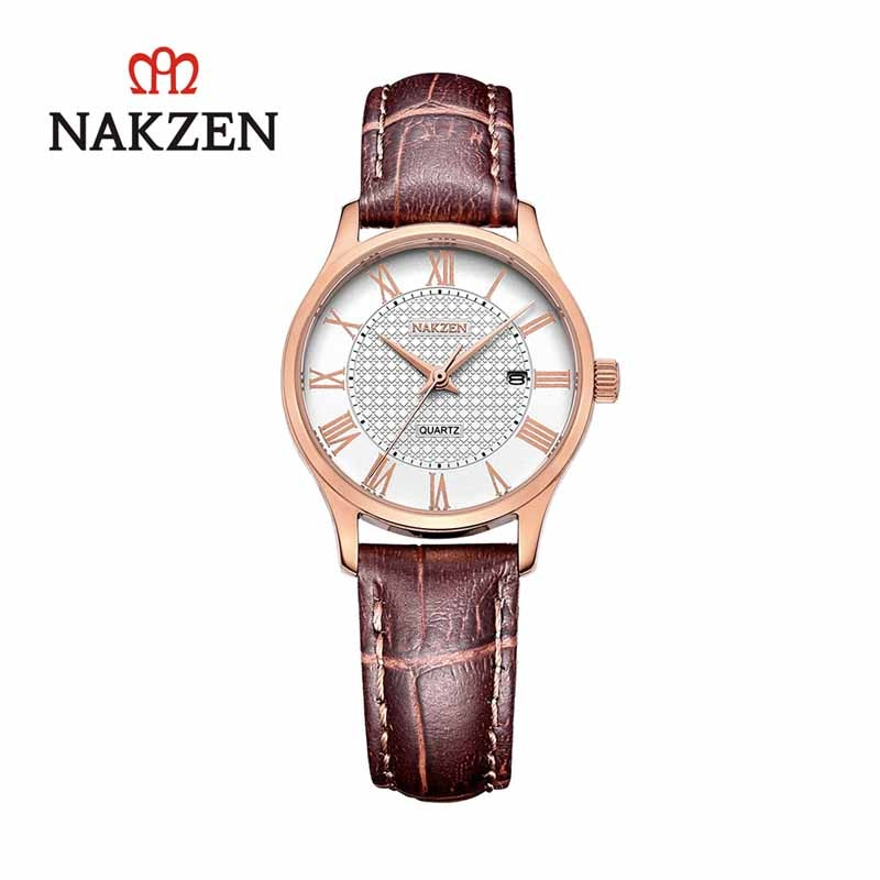 NAKZEN Luxury Women Watches Leather Clock Quartz Watch Women Casual Life Waterproof Wristwatch Montre Femme Reloj Ladies Watches reloj hombre luxury women watches diamond ladies watch casual quartz wristwatch for women clock relogio feminino montre femme