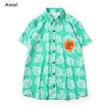 Ainiel Adult Kids Animal Crossing cosplay Costumes Shirt T Shirt Tees Men's Clothing Tom Nook T-shirt Short Sleeve Tops Disfraz