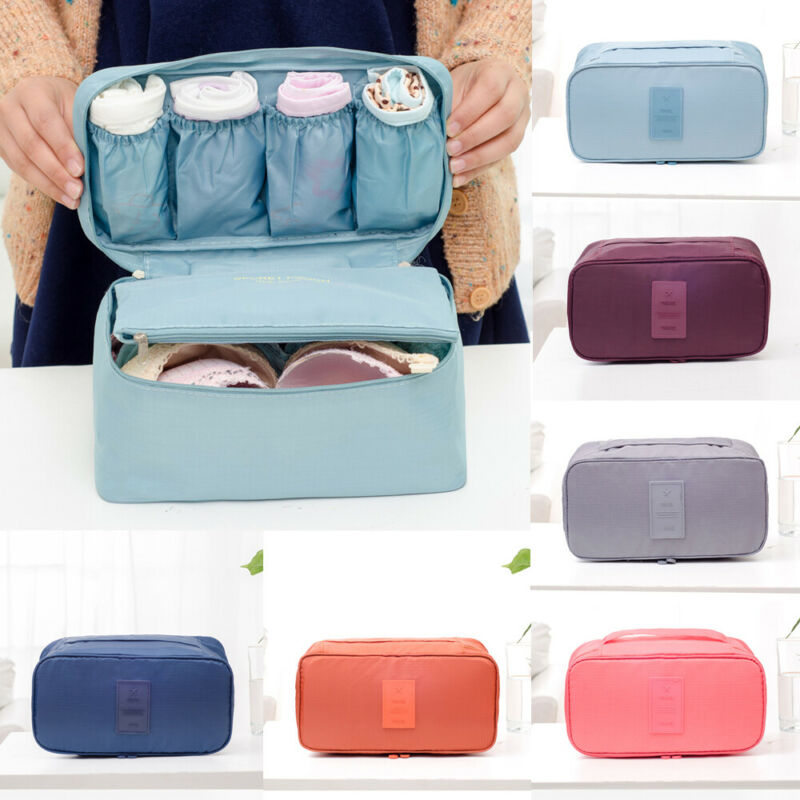 Travel Luggage Organizer Storage Bag Bra Underwear Bag Organizer Box Toiletry Cosmetic Case