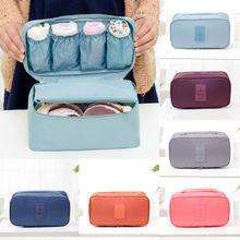 Travel Luggage Organizer Storage Bag Bra Underwear Bag Organizer Box Toiletry Cosmetic Case
