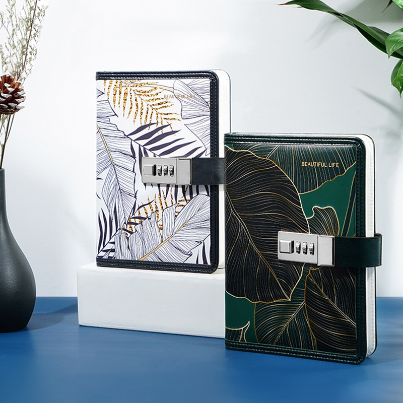 Kawaii Notepad B6 Notebook with Lock Office Diary Sketchbook Journal Girls Agenda Planner Stationery Organizer School Note Book
