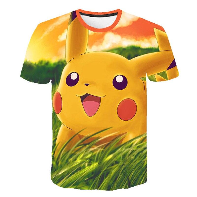 Pokemon Casual 3D Pokemon Harajuku camiseta para niños Niñas Ropa 2019 de manga corta Kpop niños camiseta blusas correctoras Hip Hop