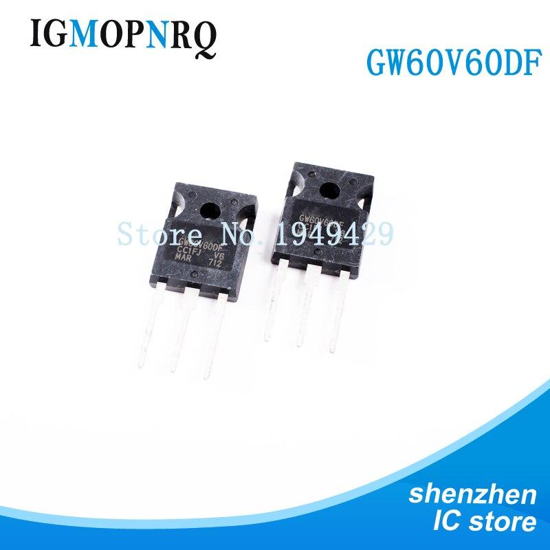 2 шт. транзистор STGW60V60DF GW60V60DF TO-247 IGBT 600V высокоскоростной транзистор 60A ворота новый оригинальный Бесплатная доставка