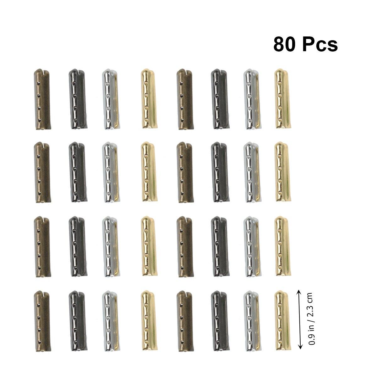 Bout de lacet en cuivre bricolage   80 pièces, bout de Aglet de réparation, pointe de lacet en cuivre, pointe de lacet pour bottes, baskets de basket-ball