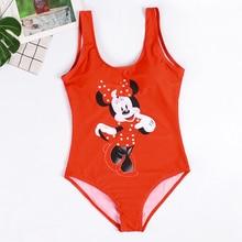 Sexy Swimsuit One Piece Swimwear 3D Flamingo Mickey Printed Monokini Thong High Waist Bathing Suit Women Red Swimsuit One Piece