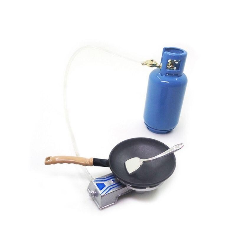 1/12 Mini casa de muñecas miniatura simulación de Gas olla de horno espátula utensilios de cocina G99C