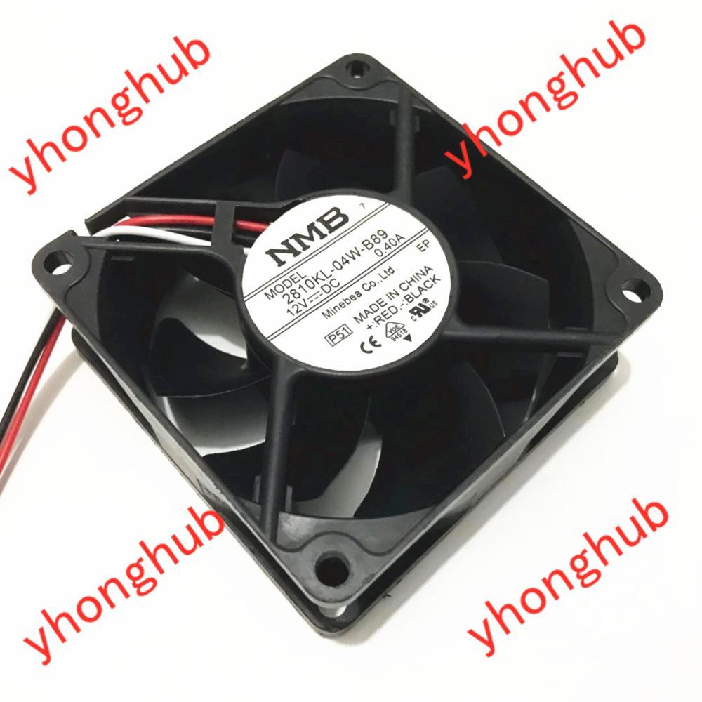 NMB-MAT 2810KL-04W-B89 P51 cc 12V 0,40a 70x70x25mm ventilador de refrigeración de servidor de 3 cables