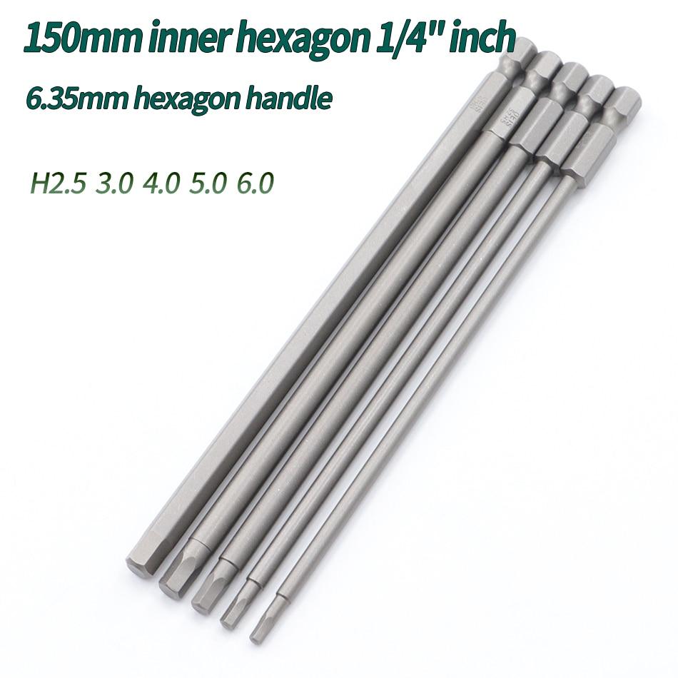 150mm/200mm cabeza hexagonal llave Allen juego de brocas mucho Allen destornillador magnético...