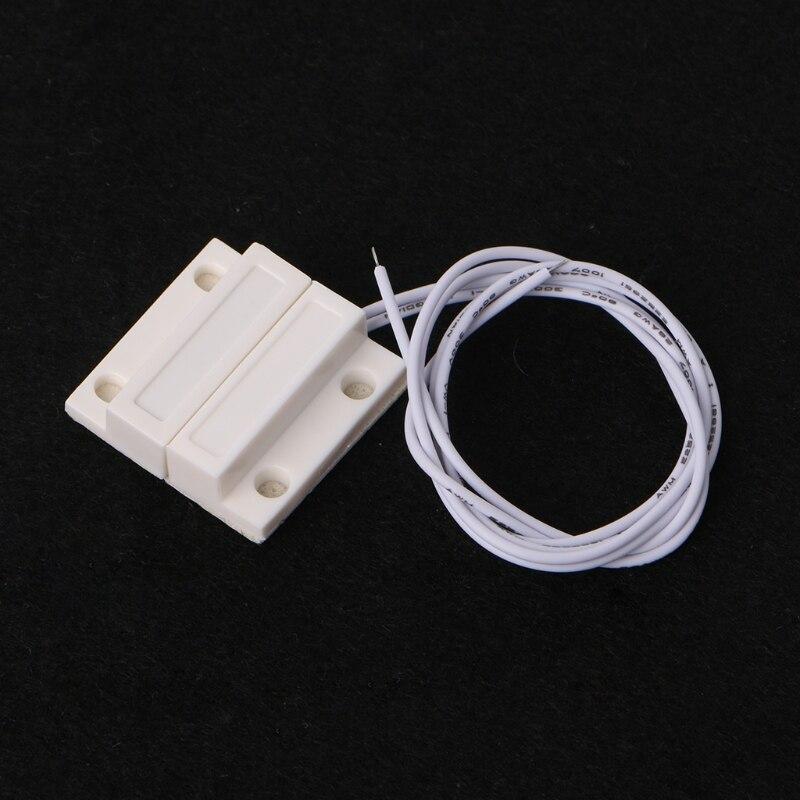 5 ensembles MC-38 Filaire Capteur De Fenetre De Porte Magnetique Interrupteur Maison Systeme Dalarme Detecteur De