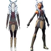 fast shipping wars rebels ahsoka tano cosplay women dress outfits halloween carnival costumes