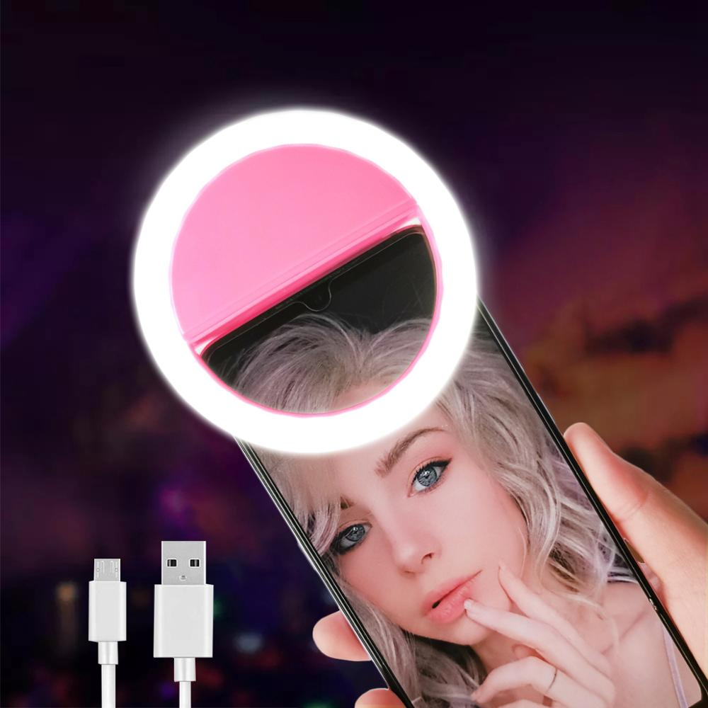 Led Selfie Ring Light Novelty Makeup Lightings Led Selfie Lamp Mobile Phones Photo Night Light Led Mirror Neon Sign Selfie Ring