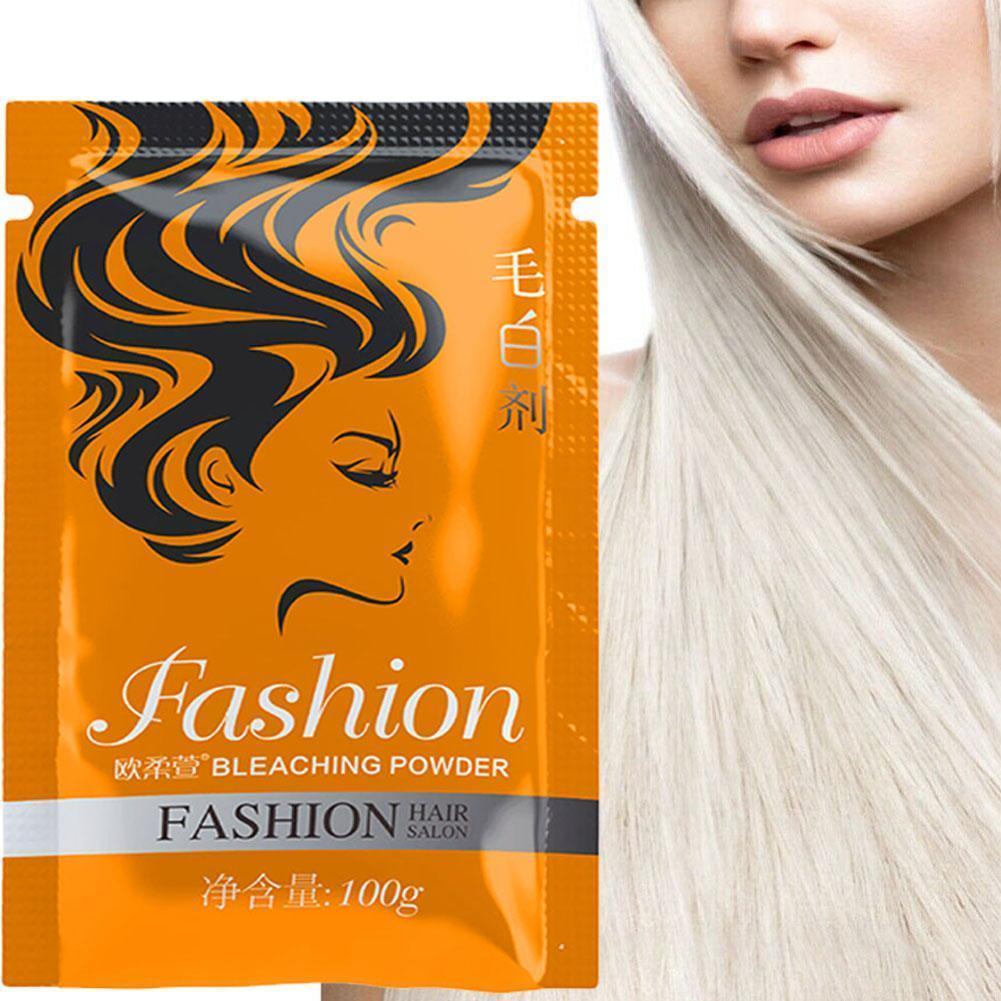 Fading Powder Cream Hair Dioxygen Emulsion Material Hair Agent 100g Bleaching Whitening Powder Bleaching Protein Factory Supply
