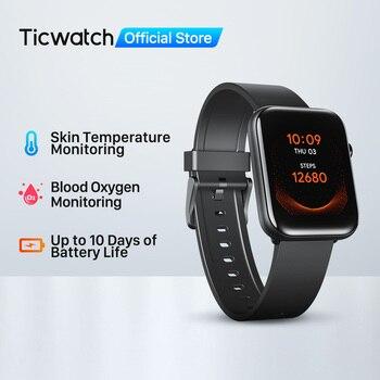 Ticwatch GTH Fitness Smartwatch Men/Women Monitor Skin Temperature Oxygen Sleep Tracking Waterproof Swim Sport Watch Mobwoi