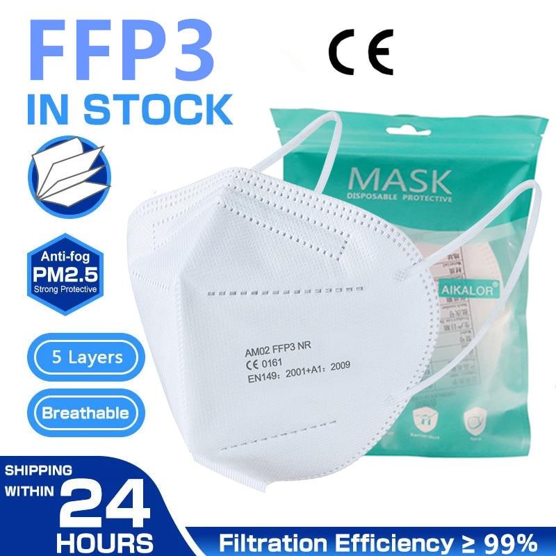 FFP3 Máscara Protetora Máscara Boca FFP3 Aprovado Mascarillas Certificada Pela CE Ao Ar Livre máscara Máscaras de FFP3 короновируса 100 barato