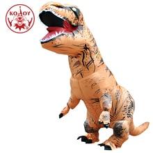 Kooy traje de dinossauro inflável t rex rider trajes purim carnaval festa cosplay traje de halloween para homens