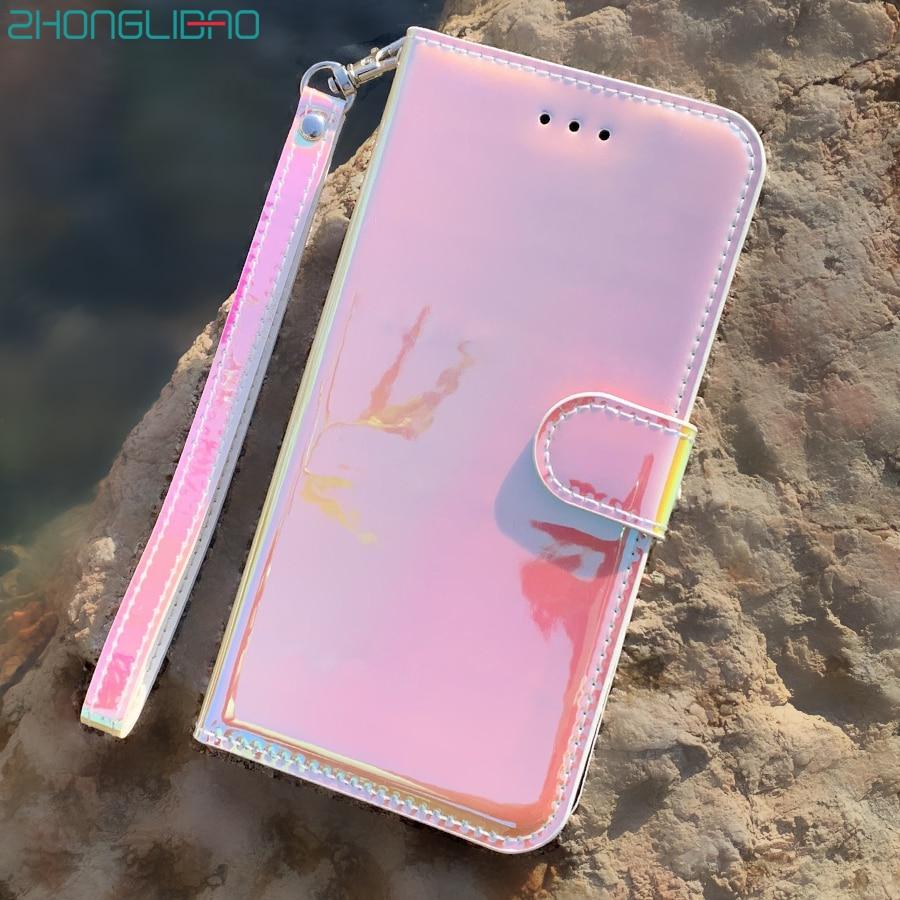 Espejo de lujo de cuero liso con tapa, funda de teléfono con soporte para Samsung Galaxy A90 5G A50 A30 A20 A10 A70 A40 M30S A20S A10S, funda de cartera