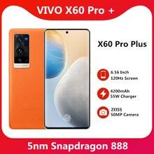 Téléphone portable dorigine VIVO X60 Pro + Plus 5G Snapdragon 888 5nm Super 6.56 120Hz