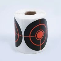 250pcsroll shooting adhesive targets splatter reactive targetsticker 7 5cm for archery bow hunting shooting practice training
