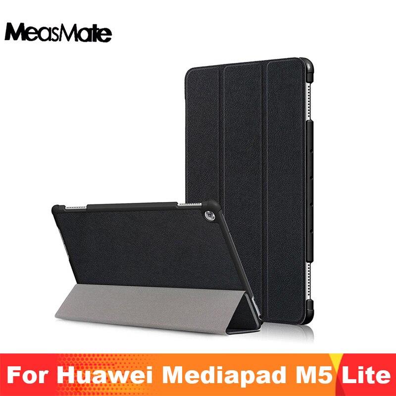 "Чехол для Huawei MediaPad M5 Lite 10 BAH2-W19/L09/W09 Ультратонкий чехол-подставка из искусственной кожи для Медиа Pad M5 Lite 10,1"""