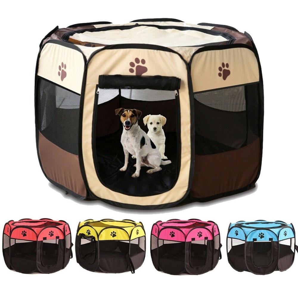 Портативные уличные питомники, заборы, палатки для домашних животных, дома для маленьких больших собак, складной детский манеж, домашняя кл...