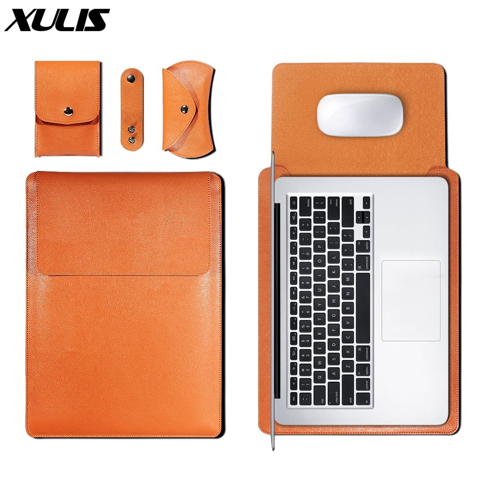PU Leather Sleeve Bag Case For Macbook Air Pro 11 12 13 15 16 Cover A1466 Liner Sleeve For Macbook A