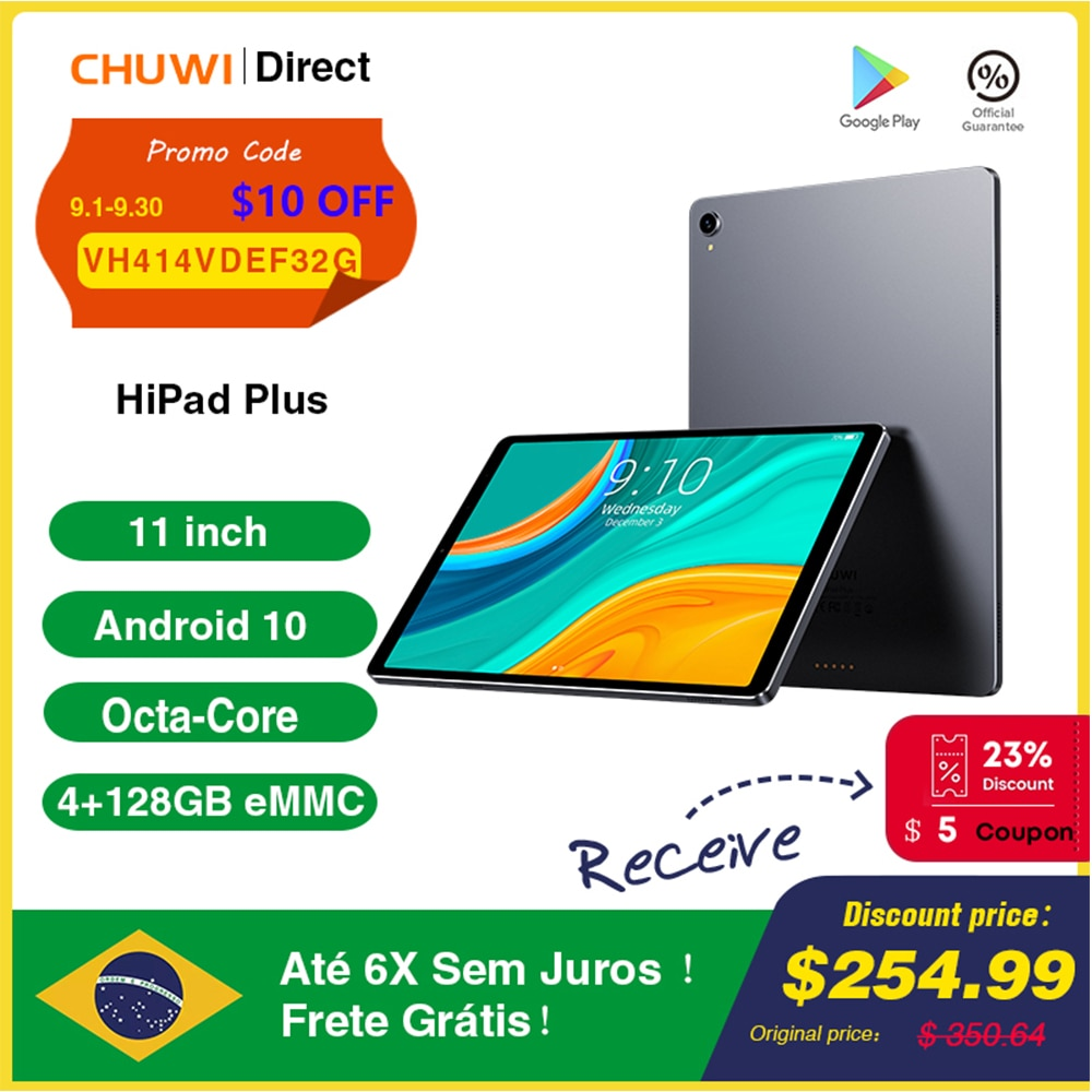 Review CHUWI HiPad Plus 11 Inch Tablet 2176×1600 MT8183V/A Octa Core 4GB RAM 128GB ROM Tablets PC Android 10 OS Dual Wifi Type-C