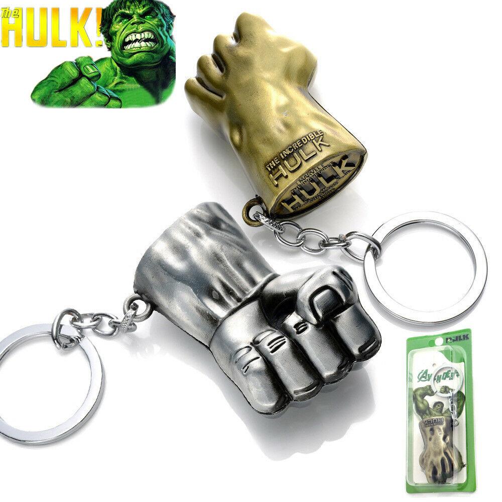 Puño Hulk, llavero, llavero, colgante de Metal para regalo de seguidor Marvel
